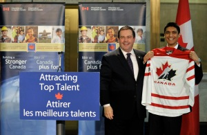 Minister Kenney congratulates Gaurav Gore, Canada's 20,000th permanent resident through the Canadian Experience Class (CEC)
