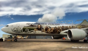 Hobbit plane Air New Zealand