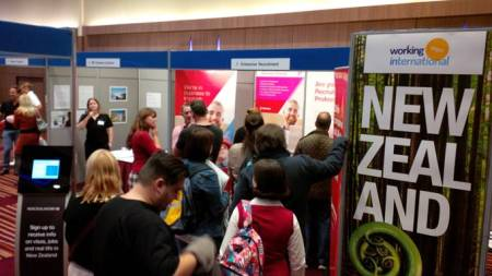 Enterprise Recruitment stand (New Zealand) were busy throughout the day