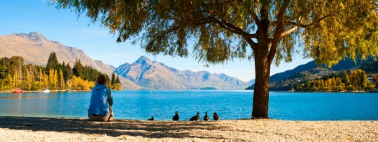 New Zealand, Queenstown and Lake Wakatipu in Autumn, lifestyle travel photography by lifestyle travel photographer Matthew Williams-Ellis
